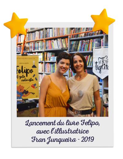 Lancement du livre Felipo, avec l'illustratrice Fran Junqueira - 2019