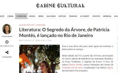 O Segredo da Árvore, de Patrícia Montês, é lançado no Rio de Janeiro